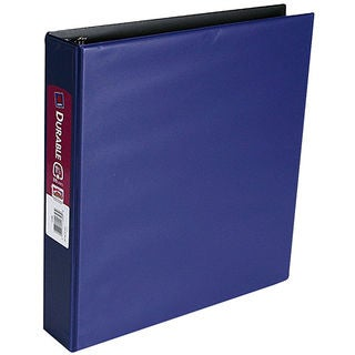 """Avery H311-15-AD 1-1/2"""" White Durable View Binder With EZ-Turn Rings"""