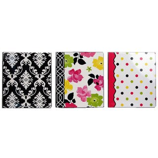 "Carolina Pad 28061 1"" Vinyl Pocket Ring Binder Assorted Designs"