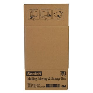 "3M 8010FB 10"" X 10"" X 10"" Tan Scotch Folded Box"