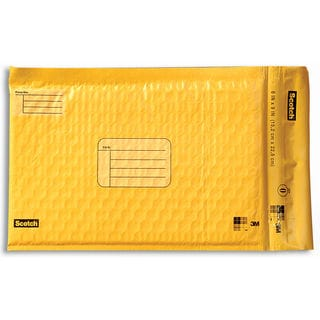 "3M 8913-4 6"" X 9"" Yellow Scotch® Smart Mailers 4 Count"