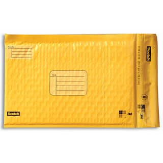 "3M 8913-4 6"" X 9"" Yellow Scotch® Smart Mailers 4 Count