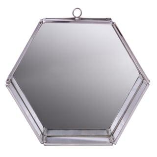 Nico Silvertone 6.5-inch x 7.5-inch x 3-inch Hexagon Single Wall Mirror