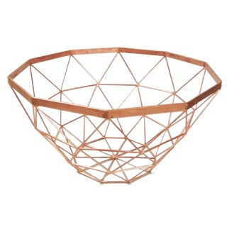Copper Iron 7-inch x 13-inch Diameter Basket