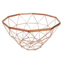 Copper Iron 7-inch x 13-inch Diameter Basket