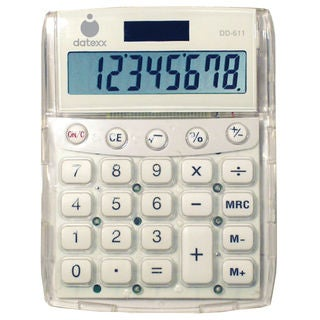 Datexx DD-611 Big Number Dual Power Desktop Calculator