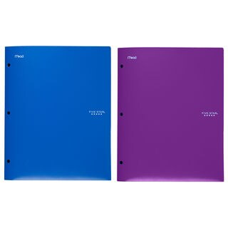 "Five Star 33342 9-1/2"" X 11-3/4"" 2 Pocket Stay Put Folder® Assorted Colors"