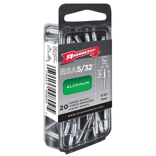"Arrow Fastener RSA5/32 5/32"" Medium Aluminum Rivets 20-ct"