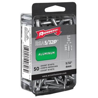 "Arrow Fastener RSA5/32IP 5/32"" Short Aluminum Rivets 50-ct"