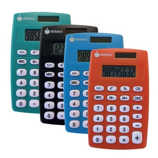 Datexx DH-109C Handheld Calculator Assorted Colors