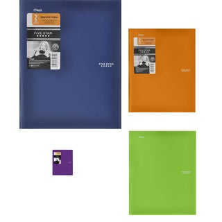 "Five Star 34030 8-1/2"" X 11"" Stay Put Folder® Assorted Colors"