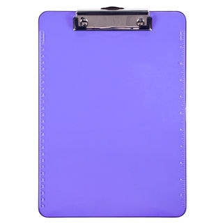 Charles Leonard Inc. 89760 Letter Size Neon Purple Clipboard With Low Profile Clip