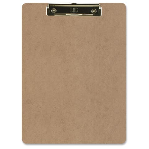 """Officemate International 83219 9"""" X 12-1/2"""" Brown Low Profile Clipboard"""