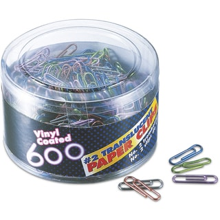Officemate International 97211 Small Paper Clips 600 Count Assorted Colors