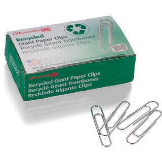 Officemate International 99964 Giant Recycled Paper Clips