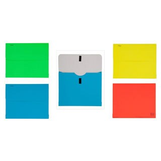 """MeadWestvaco 35362 8-1/2"""" X 11"""" Brite Wallet® File Assorted Colors"""
