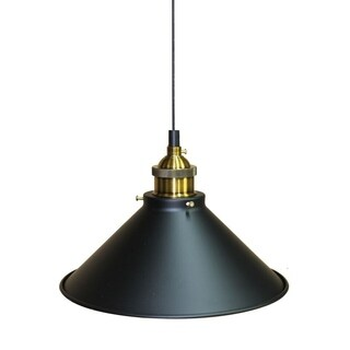 Broome Dark Grey With Copper Trim Finish 1-light Pendant