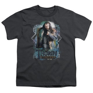 The Hobbit/Thorin Oakenshield Short Sleeve Youth 18/1 Charcoal