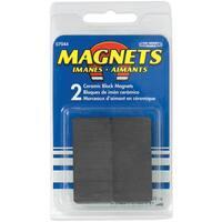"""Master Magnetics 07044 3/8"""" X 7/8"""" X 1-7/8"""" Ceramic Block Magnets 2 Count"""
