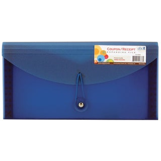 "Docit Organizer 00886 10.4"" X 5.2"" Doc It Coupon & Receipt File Assorted Colors"