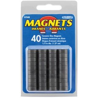 "Master Magnetics 07048 .5"" X .187"" Value Pack Ceramic Disc Magnets 40 Count"