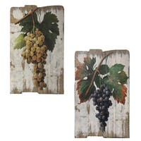 Vintage Vineyard Wooden Wall Art Prints (Set of 2)