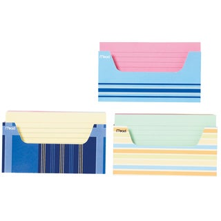 "MeadWestvaco 63036 3"" X 5"" Ruled Index Cards & Tray Assorted Colors 150 Count"