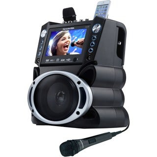 "DOK GF839 DVD/CDG/MP3G Karaoke Machine with 7"" TFT Color Screen and R"