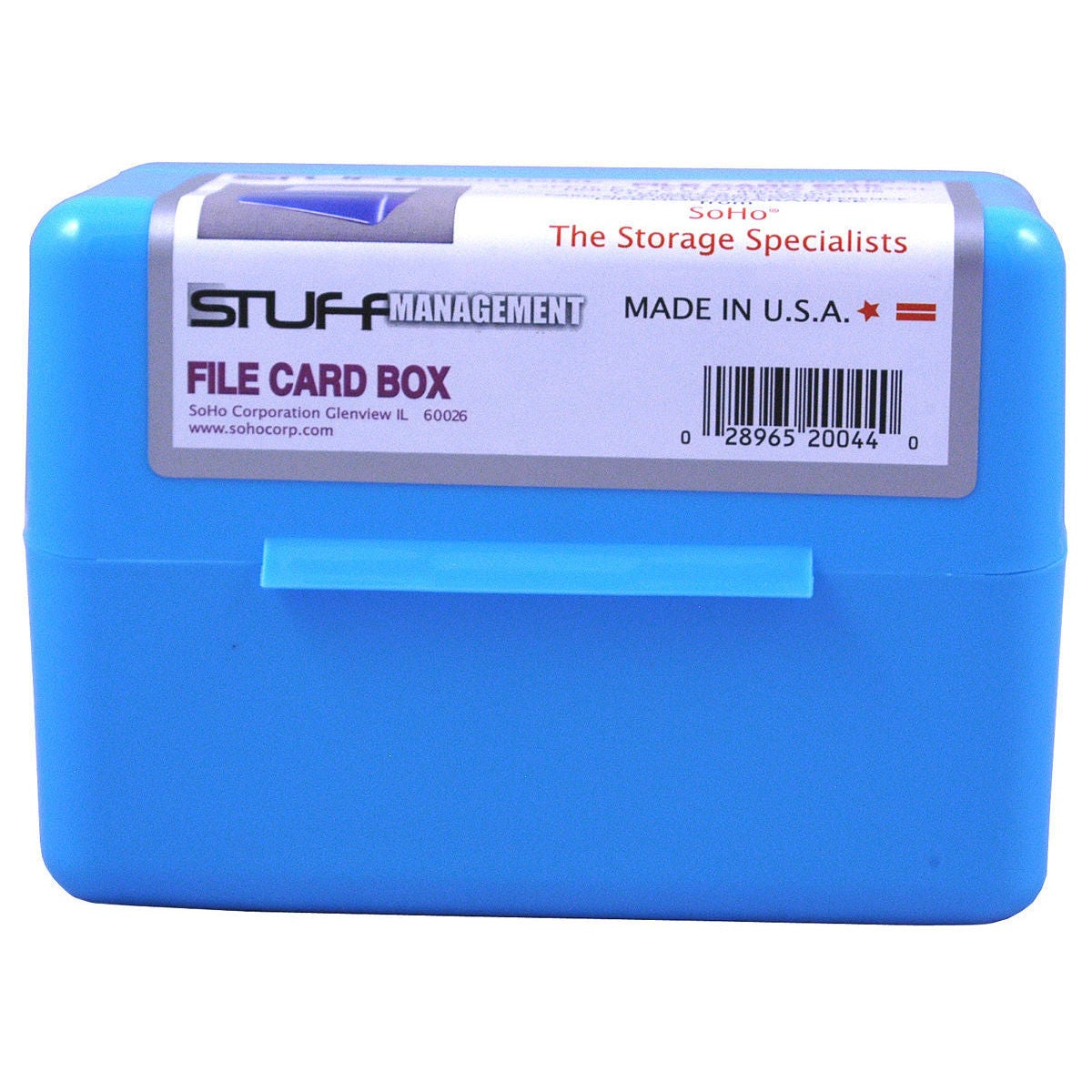 "SOHO FB-35 3"" X 5"" Index Card File Box Assorted Colors (I..."