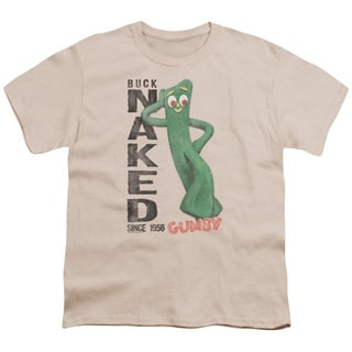 Gumby/Buck Naked Short Sleeve Youth 18/1 in Cream