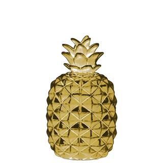 Urban Trends Collection Gold-tone Chrome/Ceramic Pineapple Figurine