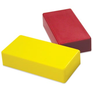 """Master Magnetics 07276 .5"""" X 1"""" X 2"""" Red & Yellow Hold Everything Magnets"""