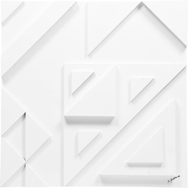 Diagram III' Unframed Wall Decor - White - 24 x 24
