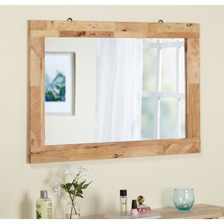 Simple Living Tokyo Natural-finish Beech/Rubberwood Mirror