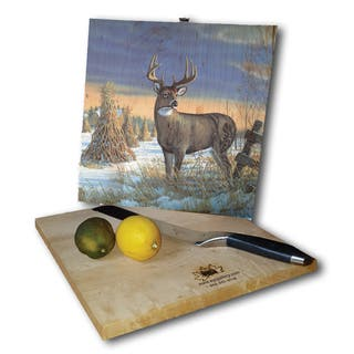WGI Gallery Multicolored Wood Whitetail Deer in Winter Cutting Board|https://ak1.ostkcdn.com/images/products/12799205/P19569624.jpg?impolicy=medium
