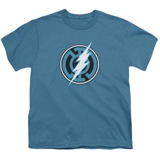 Green Lantern/Blue Lantern Flash Short Sleeve Youth 18/1 in Slate