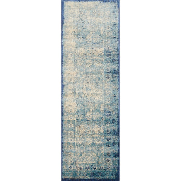 contessa light blue ivory runner rug 2 39 7 x 10 39 0 free. Black Bedroom Furniture Sets. Home Design Ideas