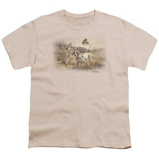Wildlife/Pointer & Bobwhite Quail Short Sleeve Youth 18/1 Cream