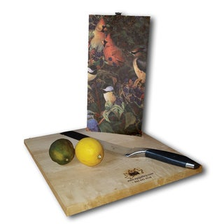 WGI Gallery Berry Bush Songbirds Wood Cutting Board (2 options available)