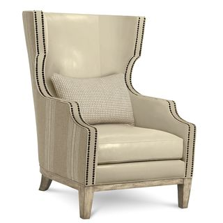 A.R.T. Furniture Madison Natural Leather Wingback Chair