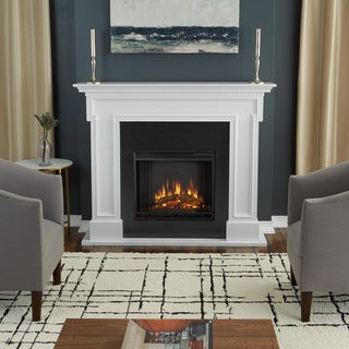 Real Flame Thayer White Finish 54.38 in. L x 13 in. D x 44.88 in. H Electric Fireplace