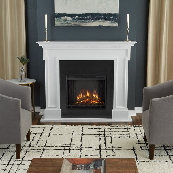 Real Flame Thayer White Finish Electric Fireplace Free
