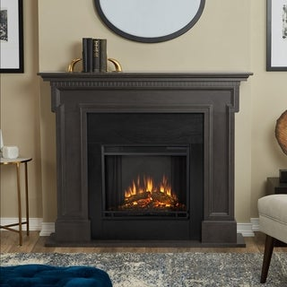 Real Flame Thayer Grey Finish 54.38 in. L x 13 in. D x 44.88 in. H Electric Fireplace
