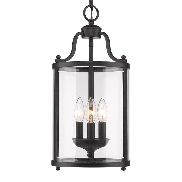 Golden Lighting's Payton #1157-3P Black 3-light Pendant