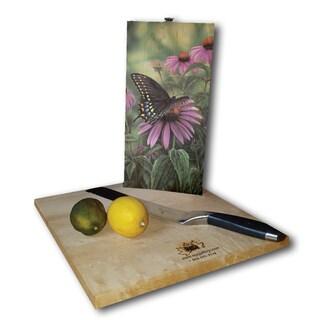 WGI Gallery Multicolored Wood Black Swallowtail Butterfly Cutting Board