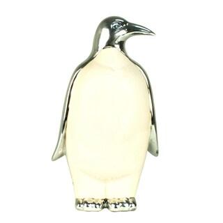 White Ceramic 11-inch Penguin Figurine