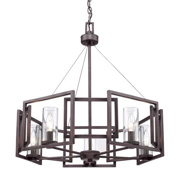 Golden Lighting's Brown Steel Marco 5-light Chandelier