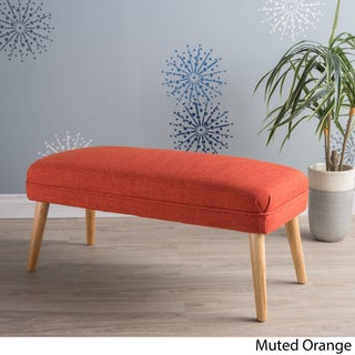 Desdemona Mid-Century Fabric Ottoman by Christopher Knight Home