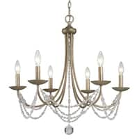 Golden Lighting Mirabella Gold-tone Steel 6-light Chandelier