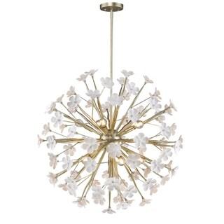 Golden Lighting Posy Steel 10-light Pendant