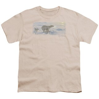 Wildlife/On The Edge Short Sleeve Youth 18/1 in Cream